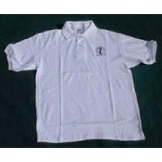 Blues Alley golf shirt - white